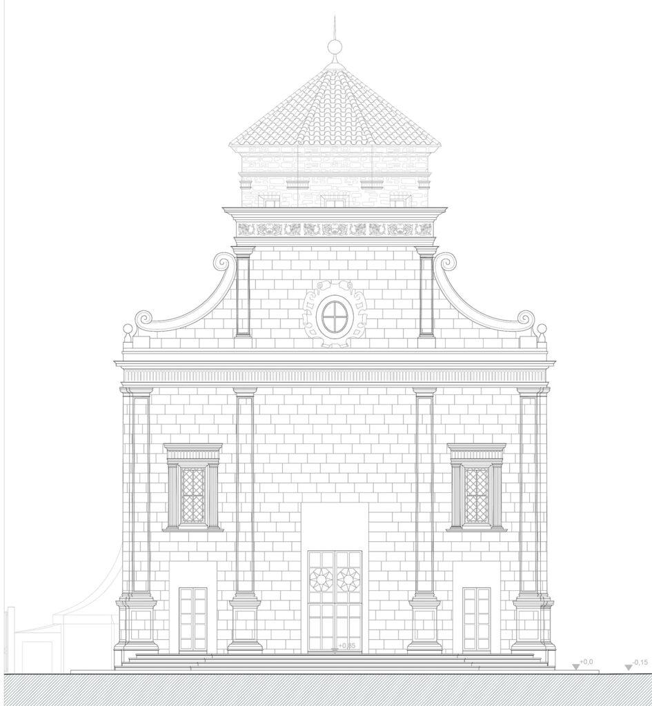 San Giorgio dei Genovesi - Prospetto principale