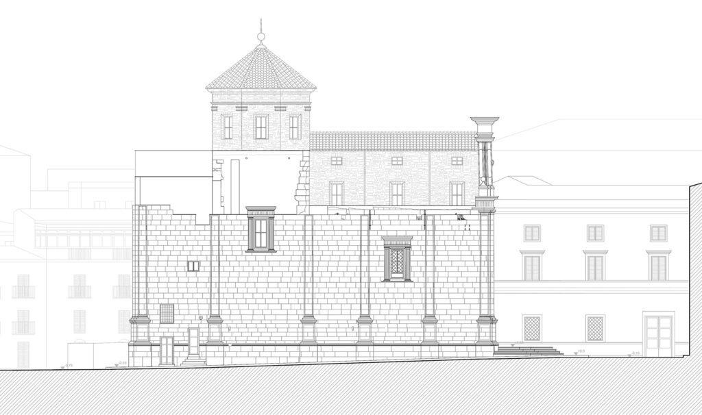 San Giorgio dei Genovesi - Prospetto settentrionale