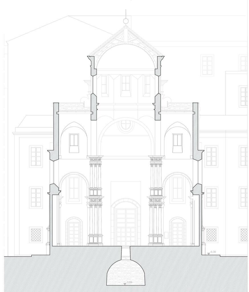 San Giorgio dei Genovesi - Sezione trasversale