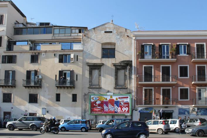 San Sebastiano - Prospetto posteriore sulla Cala