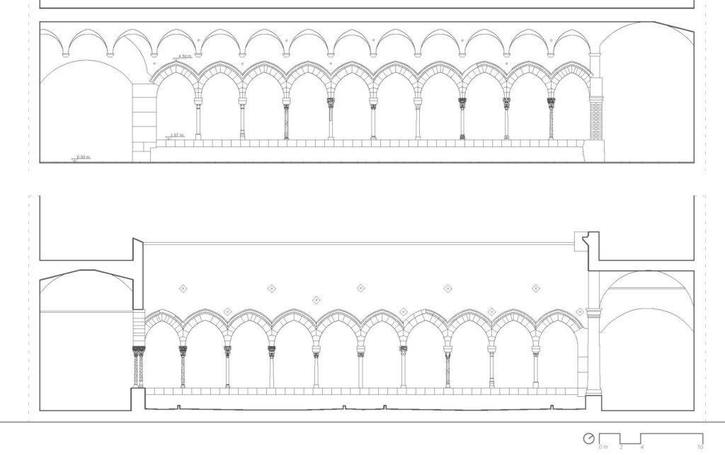 Complesso di San Domenico - Prospetti della corsia orientale del chiostro