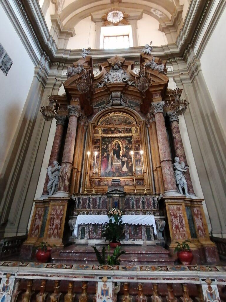 Complesso di San Domenico - Foto del Cappellone della Madonna del Rosario (transetto settentrionale)