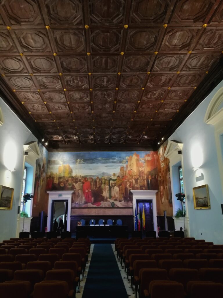Complesso di San Domenico - Foto della sala conferenze della Società Siciliana di Storia Patria