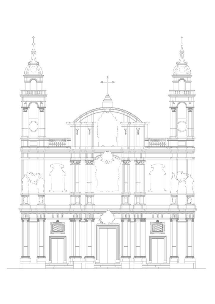 Complesso di San Domenico - Prospetto principale della chiesa